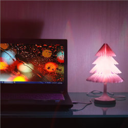Красочные Елочные USB нажмите переключатель LED ночное освещение