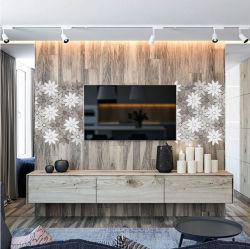 Neue Entwürfe steuern Dekor-moderne Haus-vorzügliche Blumen-Form-Marmorsteinmosaik automatisch an