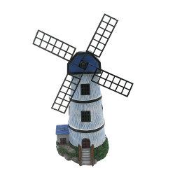 Commerce de gros à la main à la maison et décoration de Jardin Solaire Polyresin vent imperméable Mill pelouse lumière de la résine en forme