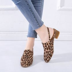 Les femmes Chaussures Bateau trotteurs talons carrés peu profondes de la TOE ronde Bande élastique des chaussures de loisirs de plein air Mule occasionnel quotidien plat porter des chaussures ESG13690