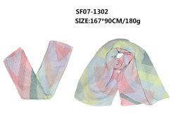 2020 우아한 다채로운 기하학적인 패턴 Scarf 신축성이 있는 주름을 잡은 모양 숙녀