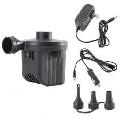 Elektrische Luftpumpe, Luftmatraze-Pumpe mit 3 Düsen, 110-240V AC/12V Gleichstrom, bewegliche Luftpumpe/Deflator-Pumpen für Pool schwimmt Wasser-Spielzeug-Floß/aufblasbares Bett Esg16147