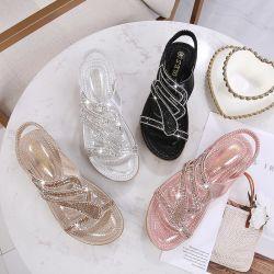Goed die de In het groot Vlakke Schoenen Sandals verkopen van de Wiggen van de Manier van Vrouwen Boheemse