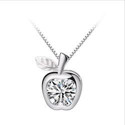 2019 L'Engagement de la mode Apple pierre zircon clair 925 Silver Poignée de commande pour l'amour