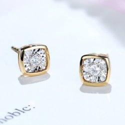 Orecchini a diamante in pietra oro solo 18K