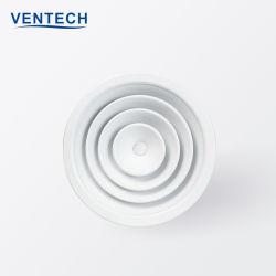 Алюминиевые системы отопления воздушного диффузора Круглый потолочный диффузор с цена блока заслонки впуска воздуха