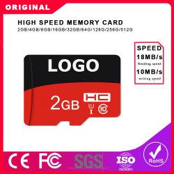 맞춤형 마이크로 SD 카드 클래스 10 TF 카드 16GB 32GB 64GB 128GB 25MB/S 메모리 카드