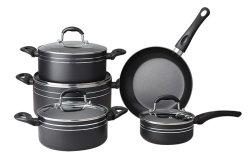 9pcs ustensiles de cuisine en aluminium pressé Non-Stick défini