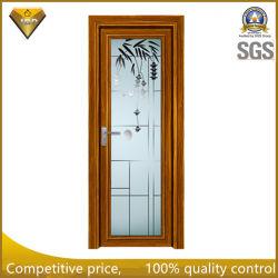 [ألومينوم لّوي] باب مسطّحة مانع للصوت بسيطة بالجملة مرحاض زجاج باب