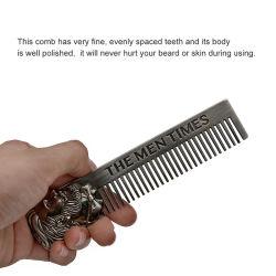 Peine la barba de acero inoxidable Cuidado del Cabello antiestático de Bolsillo Esg12356 Herramienta