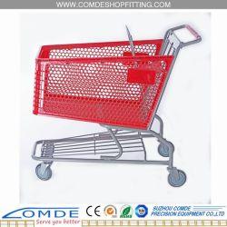 Carrito de compra de plástico con supermercado dimensiones estándar