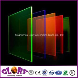 Placa Fluorescente Perspex Fundição de plástico cor de folha de acrílico