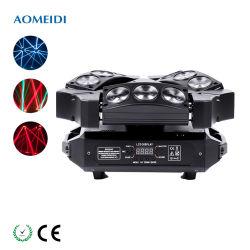 9X10 ВТ 4-в-1 RGBW LED мини-паук свет Disco перемещение передние фары