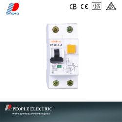 63A中国の回路ブレーカRCCBへのセリウムのCBの高品質磁気RCBO 2p 1p+N 6A
