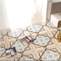 Plus de Grain du bois coloré en carreaux de céramique Tuiles rustiques pour l'étage