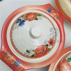 Les ventes de plastique chaud de la mélamine Soupe de riz bol de service avec couvercle