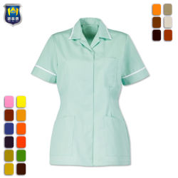 Uniformi uniformi dello staff ospedaliero della breve infermiera del manicotto di modo