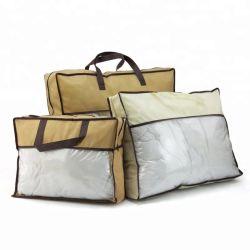 Bolsa de PVC tejida, Custom ecológica no tejido reciclable MANTA Manta, de promoción de la bolsa de embalaje reutilizable Mayorista de regalo Compras Tote almohada bolsa de plástico
