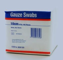 La gaze de coton absorbant médical-tige (stérilisés / Non-Sterile)