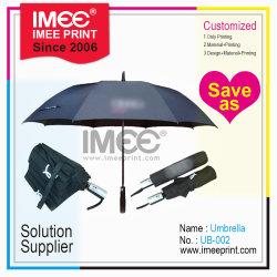 Mayorista Imee negocio de impresión personalizadas de diseño de anuncios de publicidad Vis paraguas automático promoción regalo promocional