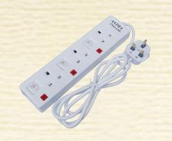 13A Разъем 3 3 токопроводящей дорожки всеобщей Multi адаптер переменного тока с помощью переключателя