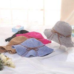 Mujeres de moda personalizada ala gran sombrero de paja regalo promocional