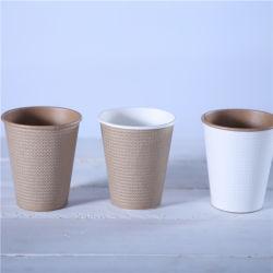 8 унции Flexo печать недавно стиле тисненая бумага кофейные чашки