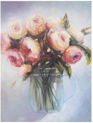 Blume Ölbild mit HP für Wandkunst GF-P19052296