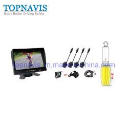 7 pouces de la vidéo numérique sans fil à ultrasons à la marche arrière / sauvegarde / capteur de stationnement du capteur arrière de camion remorque / / bus / Fire Engine