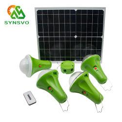 نظام الطاقة الشمسية المنزلي بقدرة 11 فولت بقدرة 25 واط بقدرة 30 واط وسعة 20 واط وسعة 20 واط مع شاشة عرض الطاقة الشمسية 4PCS 52LED