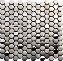 Runde Meistverkaufte Dekorative Mosaikteile Aus Silberfarbenem Metall