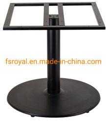 フィートの軸受けのレストラン表ベースを押す旧式なシンプルな設計の卸売の錬鉄