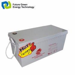 12V 200Ah Valve Regulated Solaire Étanche au Plomb Acide de Batterie D'alimentation