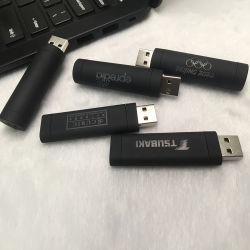 Promotional popolare unità flash USB in metallo Memory Stick Memorias Disco su chiave plastica luminescente