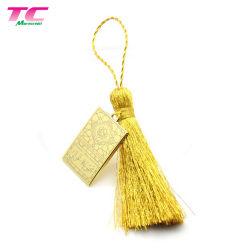 Personifizierte bunte Polyester-Troddel-Marke für Handtaschen-Troddel-Schlüsselketten-Geschenk
