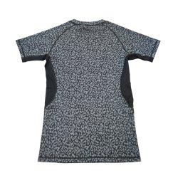 Ajuste elástico ligero Dry Fit Camisetas de desgaste de Fitness