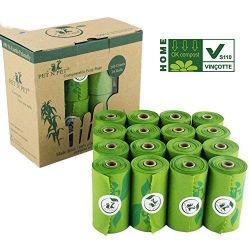 Accueil Pbat compostable PLA Amidon de maïs en PEHD en plastique biodégradable jetable PEBD Sac de merde de chien sur le rouleau avec Core
