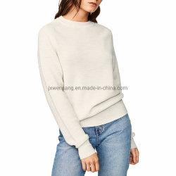 Tejidos de punto ropa Merino de la mujer suéter de lana merino 100% Natural de puente de cuello redondo camiseta