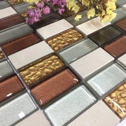 Mélange de verre Fctory design coloré mosaïque de pierre