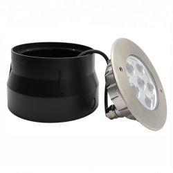 18W 24V piscina de acero inoxidable IP68 LED Lámpara Luz subacuática