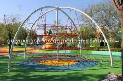 裏庭の屋外ロープの上昇の純構造のコースの子供装置の運動場