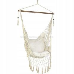キャンプの綿ロープのハングの振動椅子