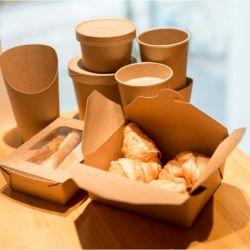 Bio à emporter de papier Kraft Food Box Rectangle #8 - 46oz