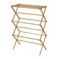 Serviette en bambou naturel pliable avec étagère de rack pour salle de bains