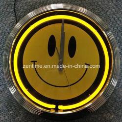 Relógio de néon único tubo de luz vermelha para GM. O TSC o mercado dos EUA