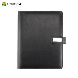 Schwarzes Mappen-Notizbuch-tägliches Tagebuch-Buchbindung-Tuch