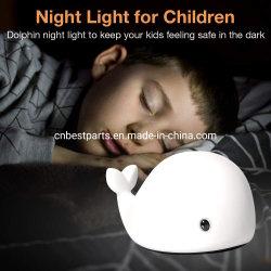 Licht van de Nacht van het Kiezelzuur van de Klasse van het voedsel het Leuke voor LEIDENE van de Lamp van het Kinderdagverblijf van de Baby van de Macht van de Batterij van het Kind 3AAA Multi het Gekleurde Licht van de Slaapkamer