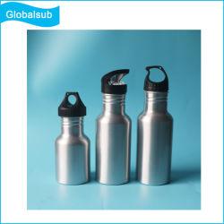 La promoción personalizada de la sublimación Deporte Cantimplora de aluminio con tapa de portátiles