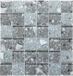 수정같은 회색 지구 유리제 모자이크 타일을 인쇄하는 건물 훈장 메시에 의하여 거치되는 잉크 제트