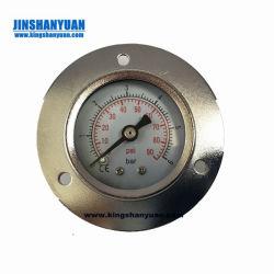 Tutto il manometro del compressore d'aria del collegamento della parte posteriore dell'acciaio inossidabile con la flangia